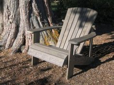 "GreenTreeChair Adirondack Chair. FSC certified,  plantation-grown wood. Made in Chiloquin, Oregon. Available in 20"" and 24"" seat widths. Bottom slat can be customized with a name or quote or logo. 25-year warranty."