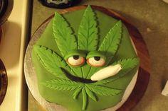 Marijuana Leaf Cake Tin