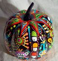 cool painted pumpkin