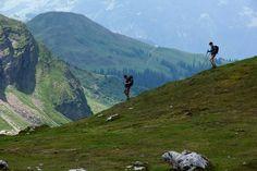 Hiking in Austria near the Swiss border.