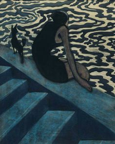 The Bather Artwork By Leon Spilliaert Oil Painting & Art Prints On Canvas For Sale Michael Borremans, Art And Architecture, Art Blog, Canvas Art Prints, Online Art, Art Images, All Art, Art History, Design Art