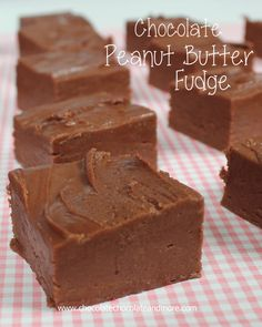 Chocolate Peanut Butter Fudge-using an old fashioned recipe from Chocolate, Chocolate and More Chocolate