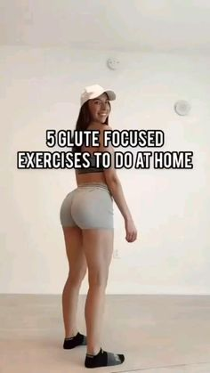 At Home Glute Workout, Full Body Gym Workout, Slim Waist Workout, Gym Workout Videos, Gym Workout For Beginners, Fitness Workout For Women, Fitness Goals, Body Fitness, Fitness Motivation