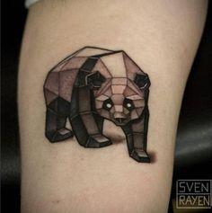 Geometric Panda Tattoo Design by Sven Rayen
