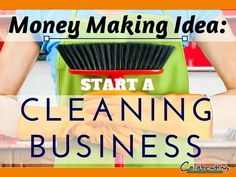 Need a way to make extra money without a large startup cost?  Start your own cleaning business on the side! Click the Pic and read about it in my latest post  Money Making Idea #13- Start a Cleaning business. Money Making Ideas, Making Money, #MakingMoney