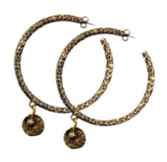 """""""Tat2 Designs Pavia Antique Brass Hoop Earrings with Crystals & Dangling Coin"""" by taught-to-fly19 on Polyvore featuring moda"""
