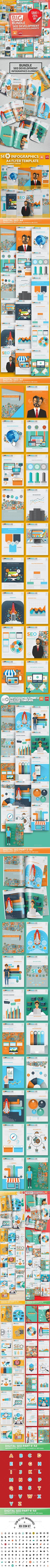 Bundle SEO Development Infographics — Vector EPS #seo icons #seo tools • Download ➝ https://graphicriver.net/item/bundle-seo-development-infographics/20003239?ref=rabosch