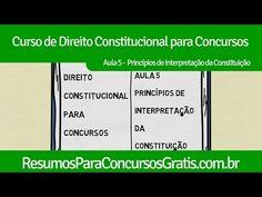 Aula 5 - Princípios de Interpretação da Constituição - http://resumosparaconcursosgratis.com.br/direito-constitucional-para-concurso/principios-de-interpretacao-da-constituicao/