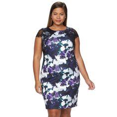 Plus Size Chaya Floral Sheath Party Dress, Women's, Size:
