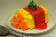 Lego Omelette Rice