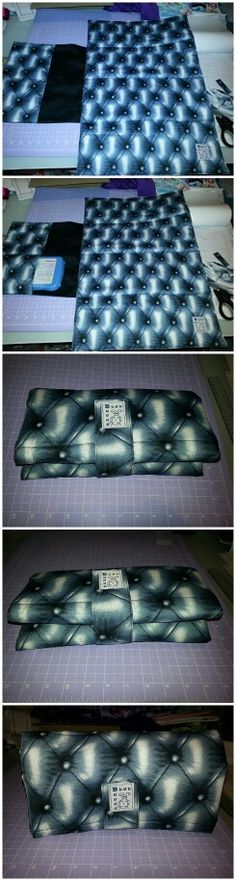 Blue Quilted Leather Look Nappy Change Wallet! Made by BlueBuggs!  www.facebook.com/BlueBuggs http://bluebuggs.tictail.com