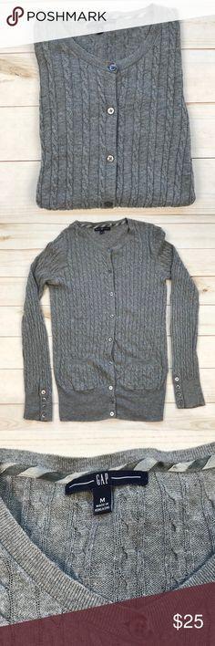 Gap size medium lightweight gray cardigan Gap size medium lightweight gray cardigan     85% cotton  15% Wool No flaws non smoking home GAP Sweaters Cardigans