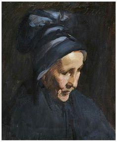 John Singer Sargent (1856 - 1925) Portrait of an old lady