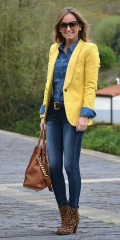 Yellow blazer | Autumn lookbook
