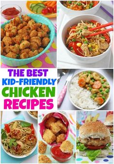 15 Delicious Chicken Recipes That Kids Will Actually Want To Eat! Kid Friendly Juice Recipe, Kid Friendly Chicken Recipes, Chicken Recipes For Kids, Easy Family Meals, Quick Easy Meals, Kids Meals, Easy Casserole Recipes, Easy Pasta Recipes, Chicken Nuggets And Chips