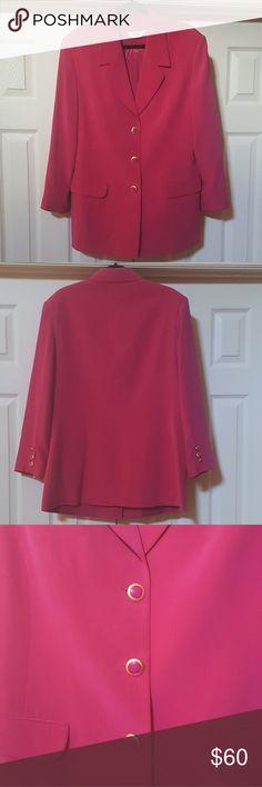 Pink Silk Blazer Pink 100% Silk Blazers by Peter Nygard Peter J Nygard Jackets & Coats
