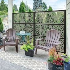 78 Ideas Of Modern Garden Fence Designs For Summer Ideas - Home/Decor/Diy/Design Privacy Screen Outdoor, Privacy Panels, Backyard Privacy, Privacy Screen Plants, Fence Design, Diy Design, Decorative Screen Panels, Deck Skirting, Spray Paint Furniture