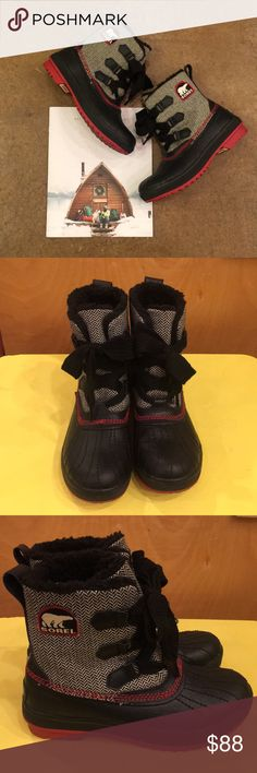 Mid rise Sorel herringbone ☃️ Baby it's cold outside ❤️ you'll feel like you're walking in s winter wonderland even taking out the trash in these beauties 💜 amazing condition Sorel Shoes Winter & Rain Boots