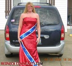 Red-hot-red-neck prom dress
