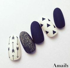 Designed by featuring Amaily's Native Patterns stickers. Shop for these easy to use, premium Japanese nail art stickers at DAILYCHARME. Shellac Nails, Matte Nails, Blue Nails, Gorgeous Nails, Pretty Nails, Japanese Nail Art, Simple Nail Art Designs, Manicure E Pedicure, Pedicure Designs