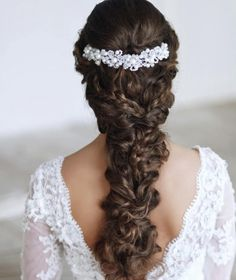 Fishtail Braid Wedding, Wedding Braids, Romantic Wedding Hair, Wedding Hair Down, Wedding Rings, Braid Hair, Glamorous Wedding, Trendy Wedding, Elegant Wedding