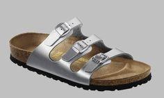 New Birkenstock Women's Florida Soft Footbed Birko-Flor Silver BirkoFlor Sandals - 37 N EU / (N) US Women online. Enjoy the absolute best in Blue Suede Shoes Sandals-shoes from top Shoes store. Birkenstock Florida, Silver Birkenstock Sandals, Birkenstock Mules, Birkenstock Style, Silver Sandals, Leather Sandals, Walking, Blue Suede Shoes, Fashion Sandals