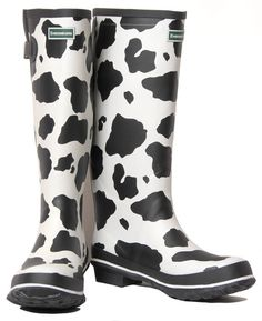 it's lame but I've always wanted cow print rainboots