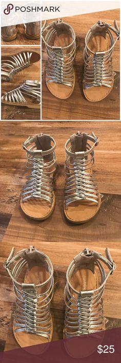 f24c6446af4f6d Toddler Gladiator Silver Sandals-7 BOGO 50% Off Toddler Gladiator Silver  Sandals-7