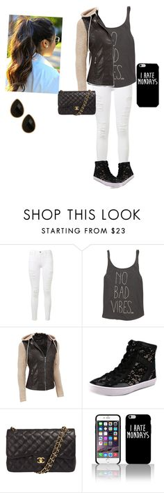 """""""I hate Monday's"""" by ereeves-1 ❤ liked on Polyvore featuring Frame Denim, Billabong, Black Rivet, Rebecca Minkoff, Chanel and Natasha Accessories"""