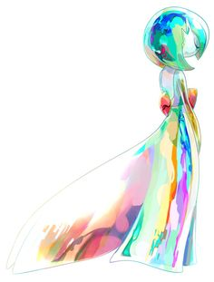 Gardevoir. Beautiful rainbow colors, the blues are especially stunning