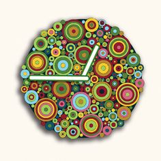 Color Circles Design Wall Clock Gift by walldecoration on Etsy
