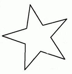 Stern Vorlage Malvorlage 01 | ausmalbilder | Pinterest