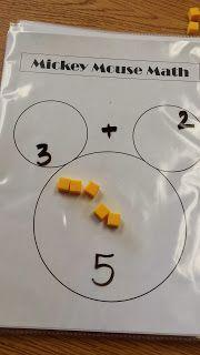 Looks similar to Singapore math number bonds. Mickey Mouse Classroom, Disney Classroom, Classroom Fun, Math For Kids, Fun Math, Math Activities, Easy Math, Simple Math, Therapy Activities
