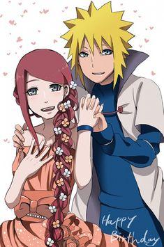 Tags: NARUTO, Uzumaki Naruto, Uzumaki Kushina, Namikaze Minato, Text: Happy Birthday, Pixiv Id 1568601