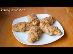 Filled Crescent Pastries Dipped in Syrup & Nuts from Kuvaj uvizu on YouTube
