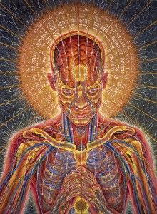 Sacred Mirrors  This lavishly illustrated volume contains texts by noted philosopher Ken Wilber as well as art critic Carlo McCormick, and Alex Grey.