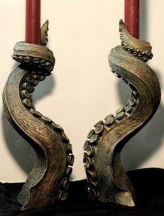 Tentacle Candle Pillars
