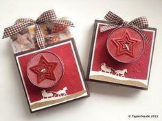 Stampin'Up! Weihnachten, Geschenkidee, Zieh-Verpackung, Chili, Espresso…