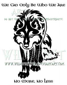 Gaelic Wolf And Sheepskin Design by WildSpiritWolf.deviantart.com on @deviantART