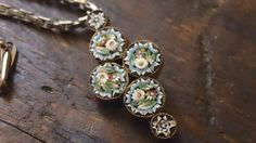 Mixed Metals Micro Mosaic necklace by CrownofLifegems on Etsy, $58.00