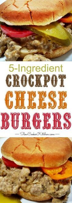 Crockpot Cheeseburgers