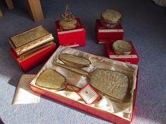 Amazing boxed Regent of London vintage dressing table vanity set