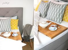 New boxspring and breakfast in bed!
