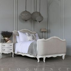 Eloquence® Sophia King Bed in Antique White