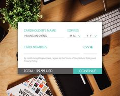 Daily UI Challenge #day02 Credit Card Checkout #dailyui background picture from #picjumbo