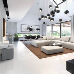 Perfect Modern Living Room Decor Ideas And Remodel : Wohnzimmer Ideen Modern Family Rooms, Living Room Modern, Home Living Room, Living Room Furniture, Living Room Designs, Living Room Decor, Small Living, Apartment Living, Living Room Drapes