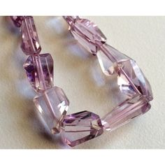 Amethyst Faceted Nugget Beads, Amethyst Step Cut Gemstones, Amethyst Tumbles, Amethyst Faceted For Jewelry To Options) Pink Amethyst, Amethyst Gemstone, Gemstone Beads, Natural Stress Relievers, How To Make Necklaces, Rose Quartz, Handmade Items, Jewels, Gemstones