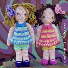 Crochet Amigurumi Doll Pattern, Sara & Kate best friends Girls PDF - Instant Download on Etsy, $6.00