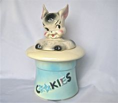 American Bisque Magic Bunny Cookie Jar 1950 USA LARGE by Bleuets