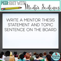 Mentor sentences from to kill a mockingbird pinterest mentor 5 ways to foster effective peer editing fandeluxe Gallery